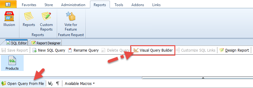 Open query from a file