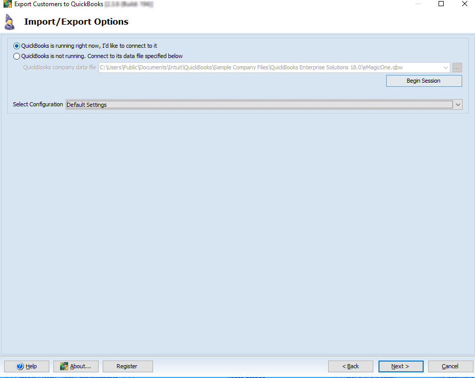 Export Customers Settings Fields