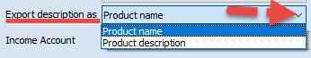 Export description as checkbox