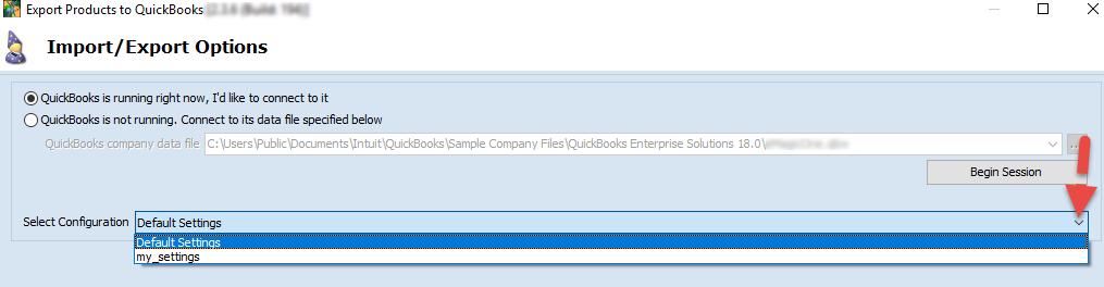 Select configuration field