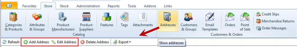 Add / Edit Address