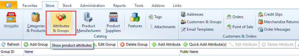 Attributes and Groups
