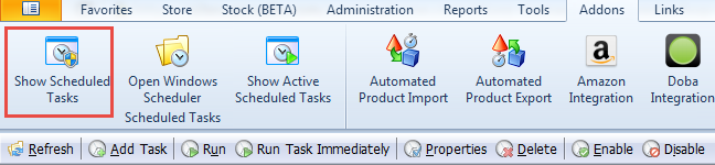 Show Scheduled Tasks toolbar