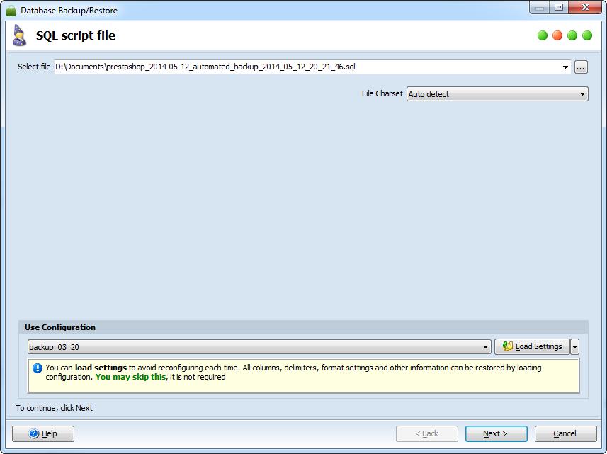 Script execution file