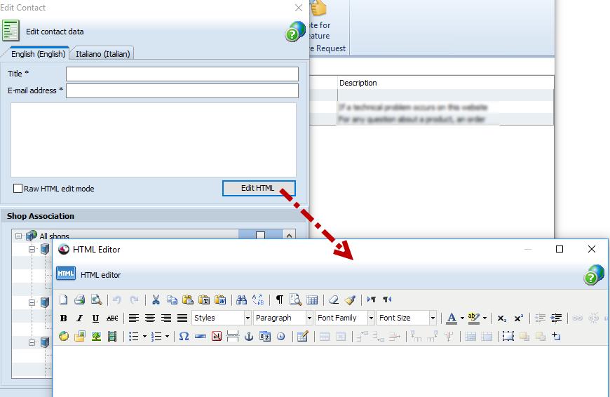 Edit HTML form