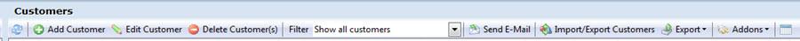 Customer toolbar