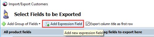 Add Expression Field