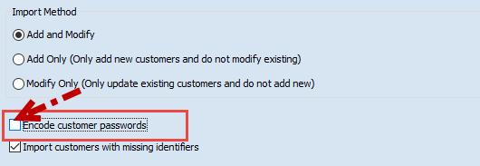 Encode customers password