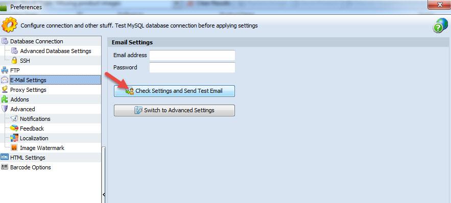 E-mail Settings