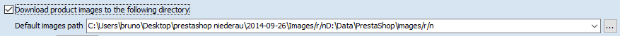 Default image path