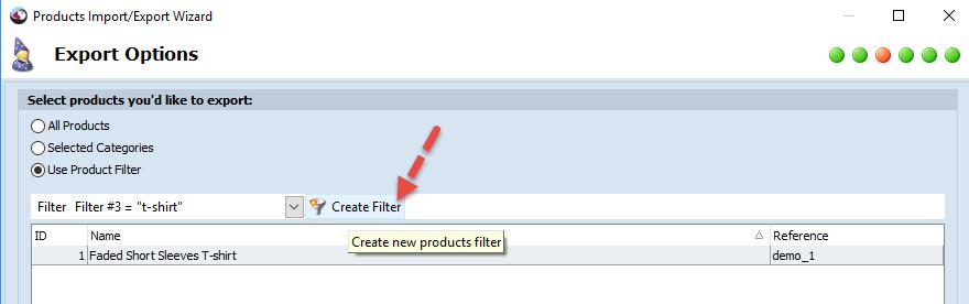 Create new filter tool
