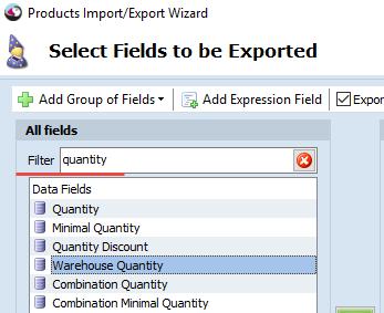 Filter in Export