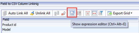 Show expression editor