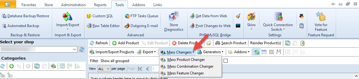 Mass Changer option