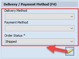 Edit payment method area