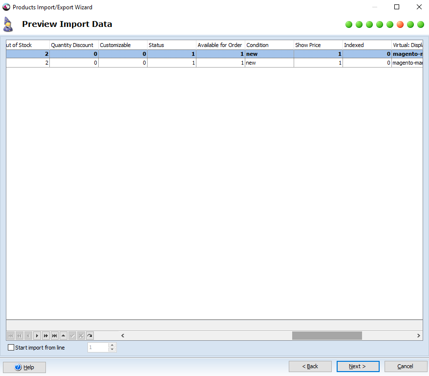 Preview import data