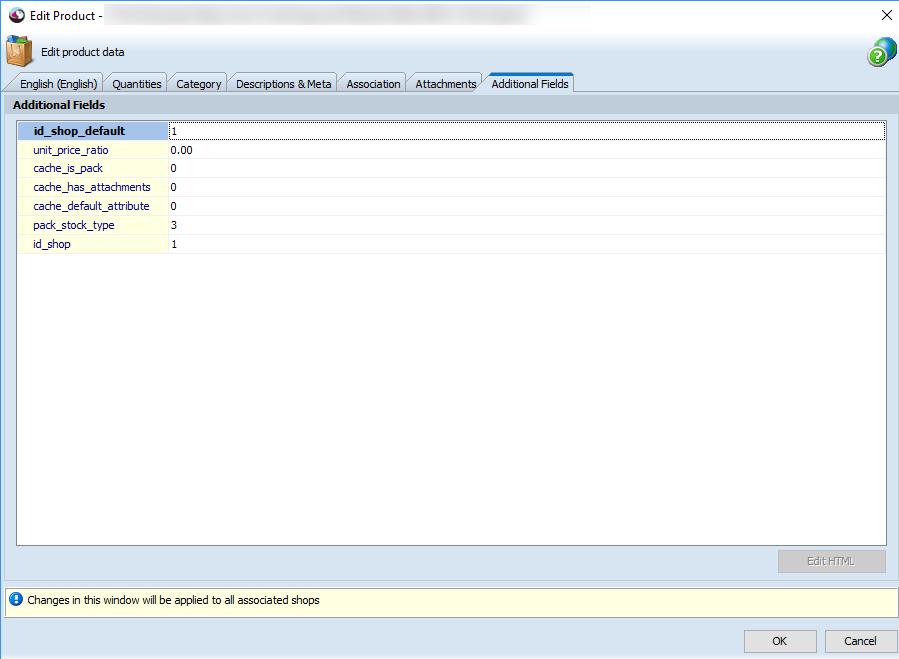 Additional fields tab