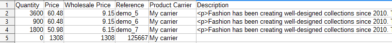 Product carrier columns in a file