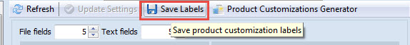 Save labels option