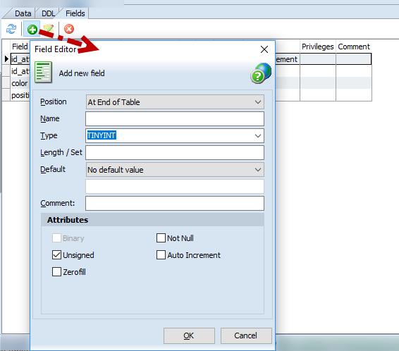 Add option - 'Field Editor'
