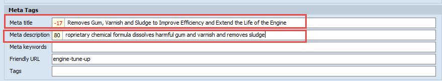 Meta title and Meta Description Indicator