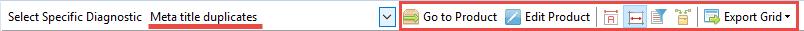 Meta title duplicates toolbar