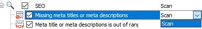 Missing meta titles or meta descriptions