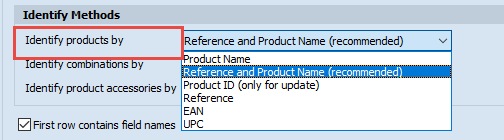 Identify products by list