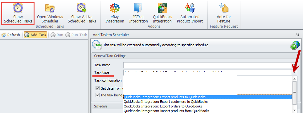 Add task to the scheduler