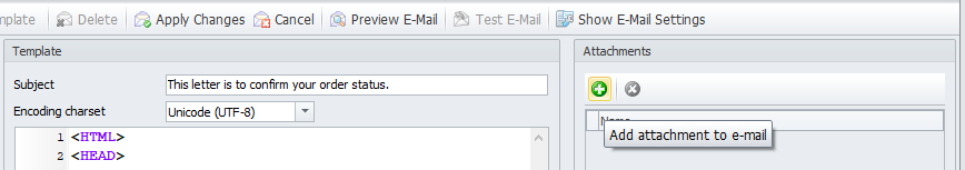 Add attachments to email
