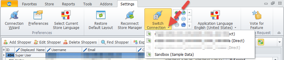 Switch Connection option