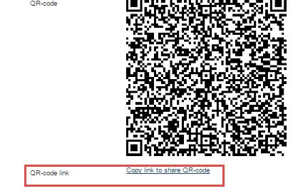 QR-code link