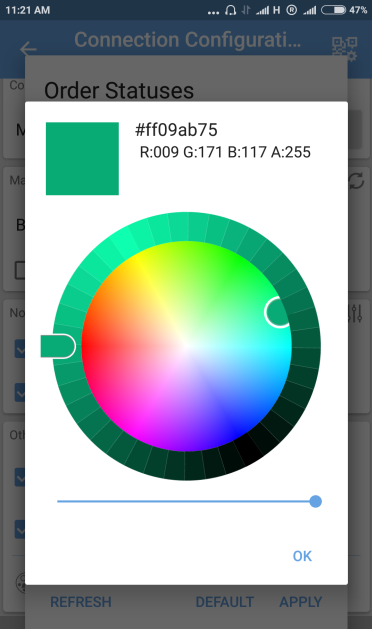 Status color pallete