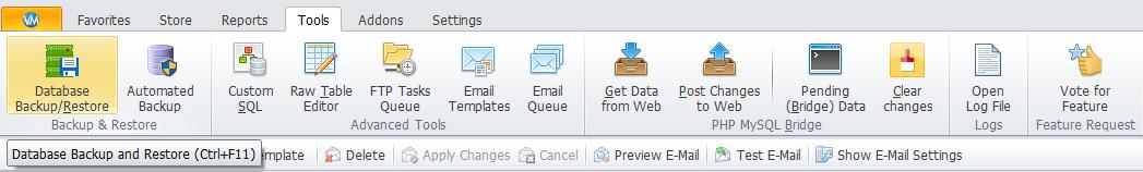 Database Backup/Restore