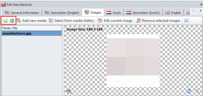 Upload image locally or from external URL source