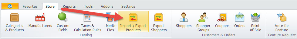 Import/export products