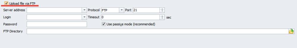 Upload file via FTP