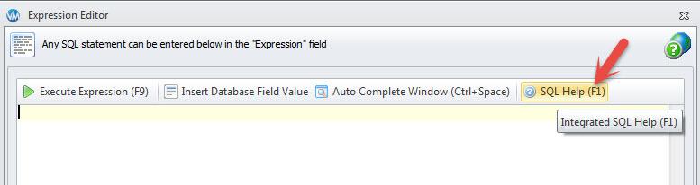 SQL 'Help' button