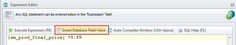 Insert Database Field Value