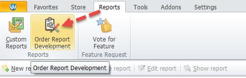 Order-Report-Development option