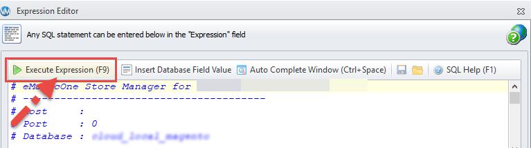 Execute Expression Formula