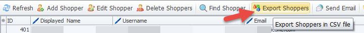Export shopper button
