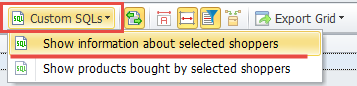 Custom SQL's button