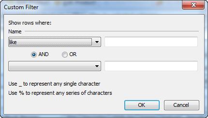 Custom filter form