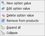 Values toolbar