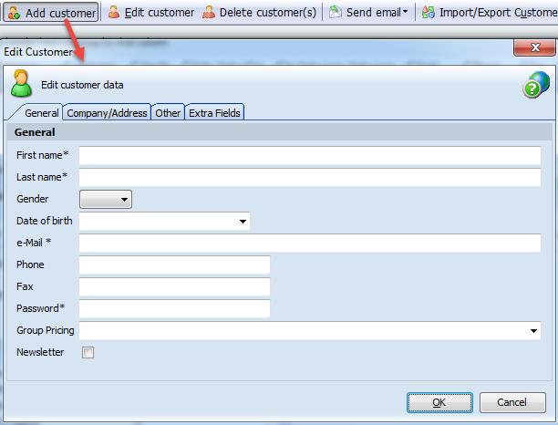 Add Customer Data