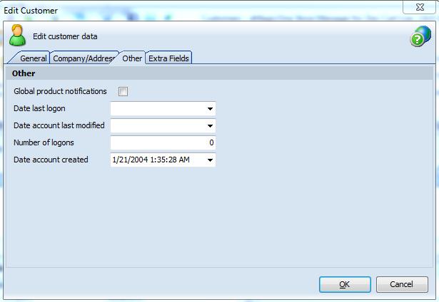 Edit customer data