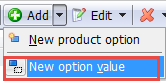 Add New Option Value