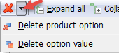 Delete product options