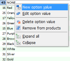 New Option Value